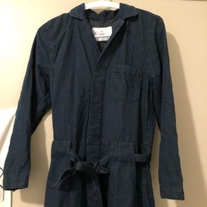 H&M Dark Denim Jumpsuit